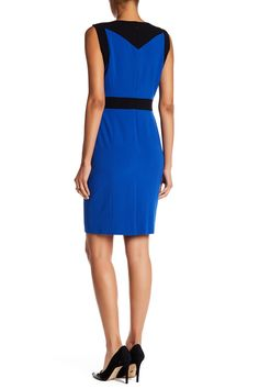 Nine West - Colorblock Sheath Dress is now 63% off. Free Shipping on orders over $100.