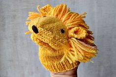 Ravelry: lion hand puppet pattern by Anne Mende
