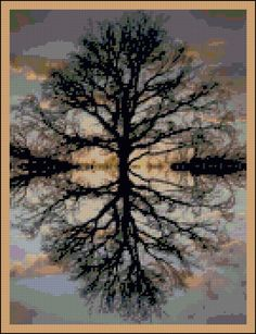 Reflections of Nature Counted Needle Point by PaulaHowardPatterns