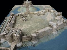 Reconstruction of York Castle in the 14th Century