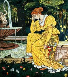 ❥ The Frog Prince by Walter Crane, 1874. (the dilemma~ should I kiss him, or not? decisions, decisions.) ;o]