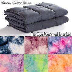 Tie Dye Blanket, Weighted Blanket For Adults, Tie Dye Bedding, Sensory Blanket, Blanket Sizes, Etsy Handmade, How To Fall Asleep, Flannel, Blankets