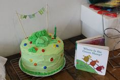 1st Birthday. Where is the Green Sheep? Cake DIY from justfordaisy.blogspot.com