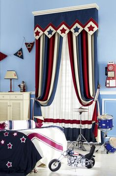 Children's young curtains in matching colors