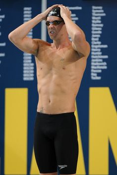 Eamon Sullivan prepares for the final of the Mens 50 metre Freestyle event during the 2014 Australian Swimming Championships at Brisbane Aqu...