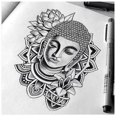 - You are in the right place about (notitle) Tattoo Design And Style Galleries On The Net – Are The - Buddha Drawing, Buddha Art, Doodle Art Drawing, Pencil Art Drawings, Art Drawings Sketches, Buddha Tattoos, Buddha Tattoo Design, Mandala Art Lesson, Mandala Artwork