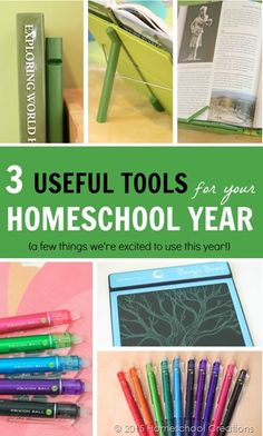 Three useful tools for your homeschool year - and we're excited to use them this year.