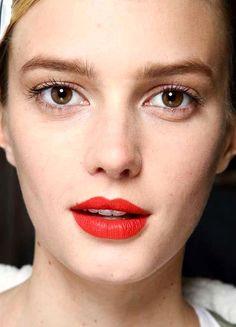 Sigrid Agren | make-up | red lipstick