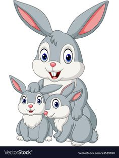 Happy rabbits family vector image on Cartoon Cartoon, Cartoon Drawing For Kids, Bunny Drawing, Art Drawings For Kids, Cartoon Drawings, Easy Drawings, Rabbit Illustration, Family Illustration, Happy Passover Images