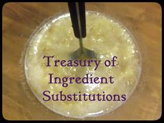 Feeding Nine on a Dime!: Treasury of Ingredient Substitutions