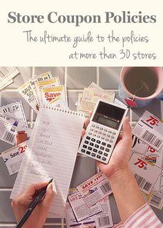 Printable Coupon Policies for 30+Stores - Consumer News - SavingsMania