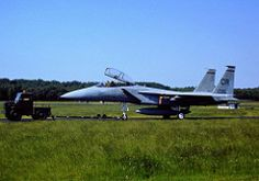 """F-15D Eagle 79-0005/ CR 32nd Fighter Squadron USAFE. Photo taken on the taxi-track """"roller"""" at Soesterberg Air-Base The Netherlands during the eighties. (Scanned from Dia)"""