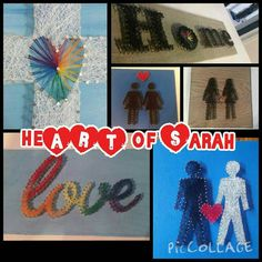 Unique LGBT rainbow pride string art to show your by heARTofSARAH