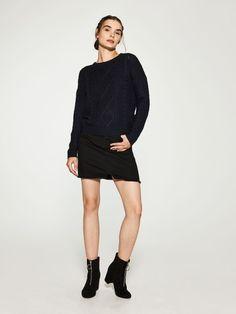 Sweter o grubym splocie, HOUSE, RU829-59X