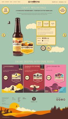 Website Product page design for Glamorgan Brewery. Craft Beer Shop, Craft Beer Festival, Craft Beer Labels, Web Design Tips, Page Design, Menu Design, Design Ideas, Craft Beer Wedding, Beer Logo Design