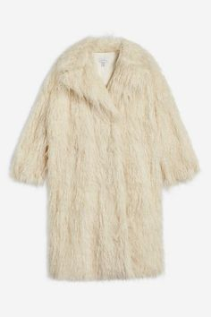 Texture is an absolute must this season, we are loving this ivory long Mongolian faux fur coat. Fashion Games, Winter Wear, Who What Wear, Faux Fur, Fur Coat, Jackets, How To Wear, Stuff To Buy, Topshop