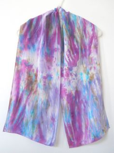 HAND DYED SILK SCARF by T-World Design ► http://etsy.me/1wdysbJ