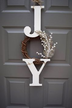 Items similar to Joy sign joy wreath christmas sign christmas door hanger farmhouse christmas decor rustic christmas sign Joy christmas decorations on Etsy Decoration Christmas, Farmhouse Christmas Decor, Noel Christmas, Christmas Signs, Xmas Decorations, Christmas Projects, Winter Christmas, Diy Christmas Crafts, Christmas Ornaments
