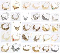 "U Pick Necklace Lady Bling Women Gorgeous Alloy Bib Statement Luxury Necklace | eBay 5 ש""ח"