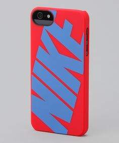Take a look at this Hyper Red Signal Blue 'Nike' Classic iPhone 5 Hard Case.