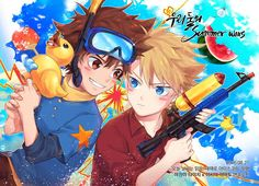 Resultado de imagen para eri y astra Digimon Seasons, Hunter Games, Digimon Digital Monsters, Digimon Adventure Tri, Art Pics, Season 1, All Art, Anime Art, Creatures