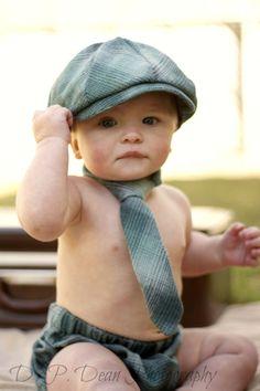 Baby Boy Photo Prop - Cake Smash Outfit - Newsboy Hat - Diaper Cover - Neck tie - Newborn photo prop - Infant Boys Photo Prop- newsboy set via Etsy