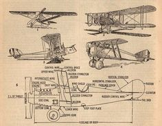 Vintage airplane printable