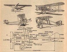 Vintage airplane printable