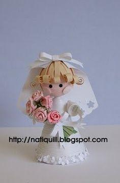 3D Quilling Bride