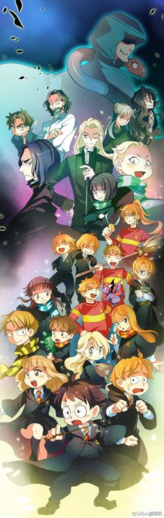 Harry Potter- OPPA CHIBI STYLE!! I have no clue who most of these are but they're so cute!!