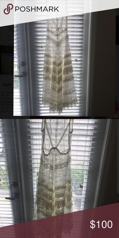 Free People Low back Maxi Dress - Ivory NWOT - Bohemian chic, dress it up with heels and gems or wear it casually to the beach. Free People Dresses Maxi