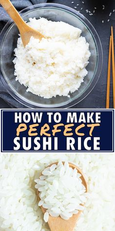 How to Make Sushi Rice (Perfect Sushi Rice Recipe!) Evolving Table : Learn How to Make Sushi Rice with short grain rice, rice vinegar, and a little bit of sugar for sushi rolls or sushi bowls. This easy sushi rice recipe can be made on the stovetop, in Perfect Sushi Rice Recipe, Sushi Rice Recipes, Best Sushi Rice, Sushi Rice Recipe Rice Cooker, Rice For Sushi, Sushi Sushi, Vegetarian Sushi Rolls, Sushi In A Bowl, Japanese Sushi Rice Recipe