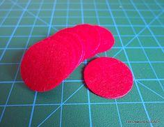 1 inch die cut felt red circle100 pcsfelt by FeltCreationsbyDGNCY