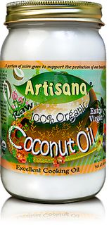 Coconut Oil! My new favorite hair and skin conditioner. Got this from the Organic Wife.  She has a great list of Fun Facts About Coconut Oil.....very informative.