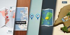 Packs PSD gratuits pour réaliser vos projets de maps et cartographies - Free psd pack to create maps projects / Ressources #map #cartes