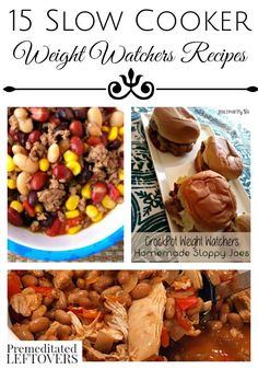 15 Slow Cooker Weight Watchers Recipes- Plan a healthy meal with these delicious crockpot dinner recipes. The Weight Watchers points are included for each one!