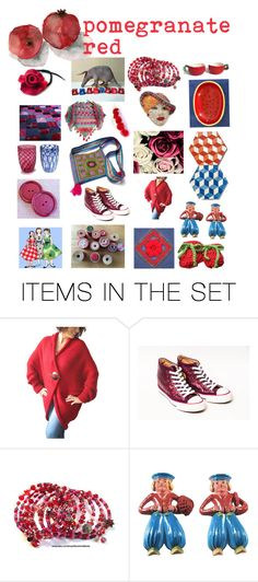 """""""Pomegranate red!"""" by belinda-evans ❤ liked on Polyvore featuring art"""