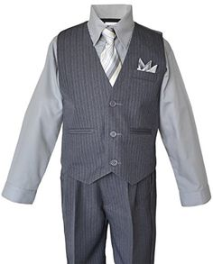Boys Grey Pinstripe Vest Suits with Matching Tie (7) Black n Bianco http://www.amazon.com/dp/B00MRF47C8/ref=cm_sw_r_pi_dp_2Homub1DPQ8Z1
