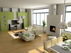 Small Electric Fireplace Set In The Middle Of Living Room Furniture And Dining Sets - pictures, photos, images