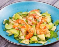 The Big Diabetes Lie Recipes-Diet - Salade rapide d'avocat, pomme et crevettes : www.fourchette-et. - Doctors at the International Council for Truth in Medicine are revealing the truth about diabetes that has been suppressed for over 21 years. Healthy Nutrition, Paleo Diet, Shrimp Avocado Salad, Cooking Recipes, Healthy Recipes, Light Recipes, Summer Salads, Quick Easy Meals, Entrees