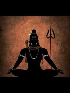 Mahadev - beautiful Shiva, a perfect symbol to meditate on..alternatively one can meditate one ones favourite deity or Ishta Dev (or Divine Mother Durga-Parvati, the consort of Lord Shiva).