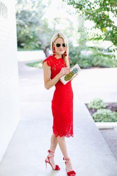 rachel zoe suzette red lace dress