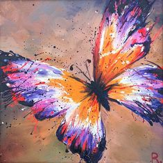 Butterfly painting. Art print. Canvas print