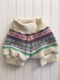 Recycled Wool Bubble Shorts 12-18 Months Fair Isle