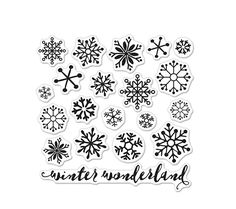 Hero Arts Clear Stamps SNOWFLAKES BY LIA CL901 Lia Griffith. Only measures 3x3.