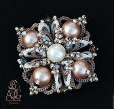 Купить Мастер класс: комплект Powder Almond: браслет, перстень, серьги, брошь…