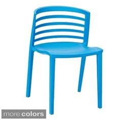 Curvy White Plastic Chair - Free Shipping Today - Overstock.com - 16762633