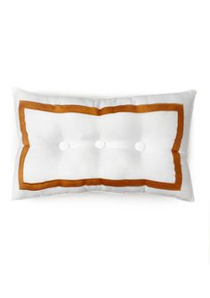 TRINA TURK Geo 3-Button Border Decorative Pillow