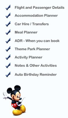 Free Disney Vacation Planner