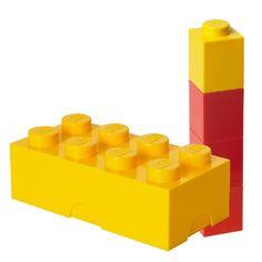 LEGO lunchset: LEGO lunchbox en drinkbeker geel